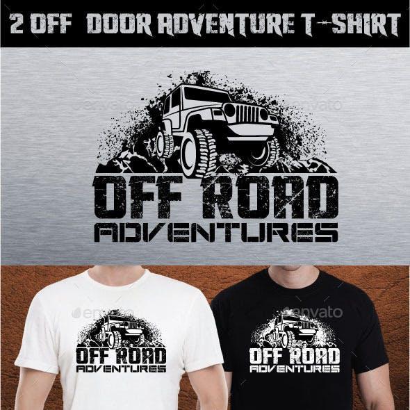 2 Off DOOR ADVENTURE T-SHIRT