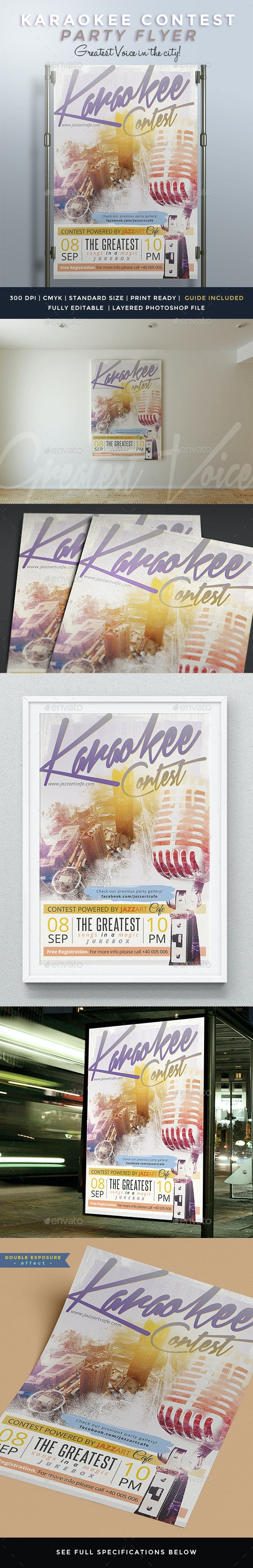 Karaokee Contest Party Flyer II - Clubs & Parties Events