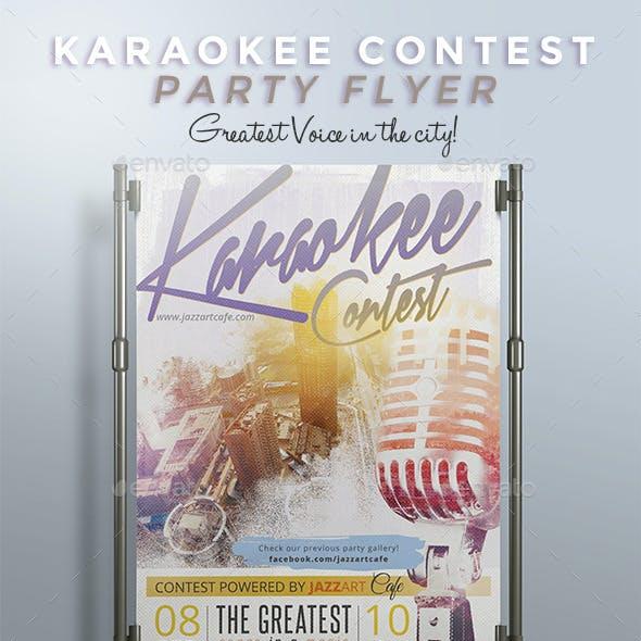 Karaokee Contest Party Flyer II