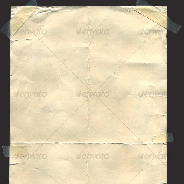 Old Paper With Transparent Tape