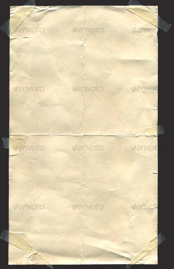 Old Paper With Transparent Tape  - Paper Textures