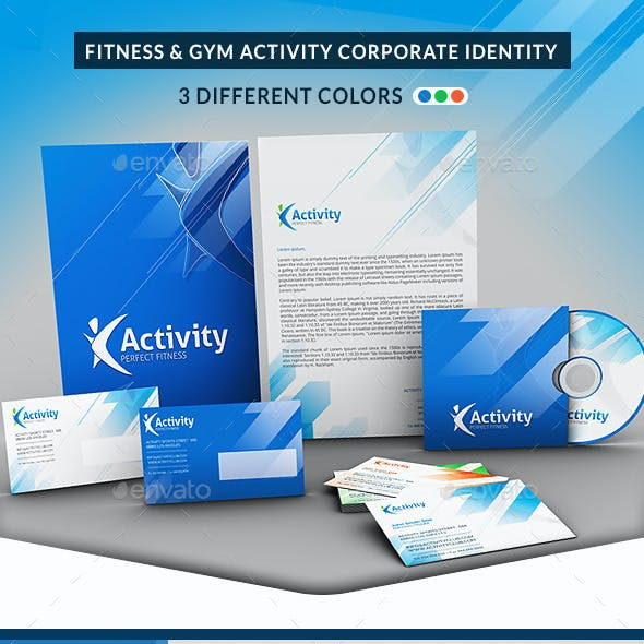 Fitness and Gym Corporate Identity