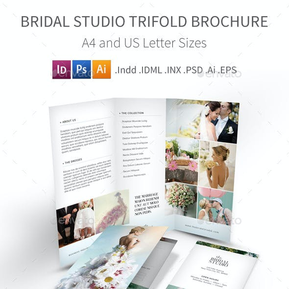 Bridal Studio Trifold Brochure