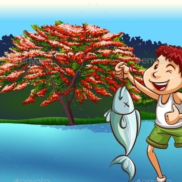 River Fishing Bait Graphics, Designs & Templates