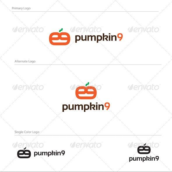 Pumpkin 9 Logo Design - NUM-001
