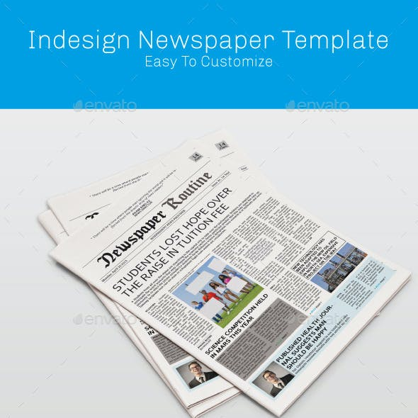 Tabloid Indesign Newspaper