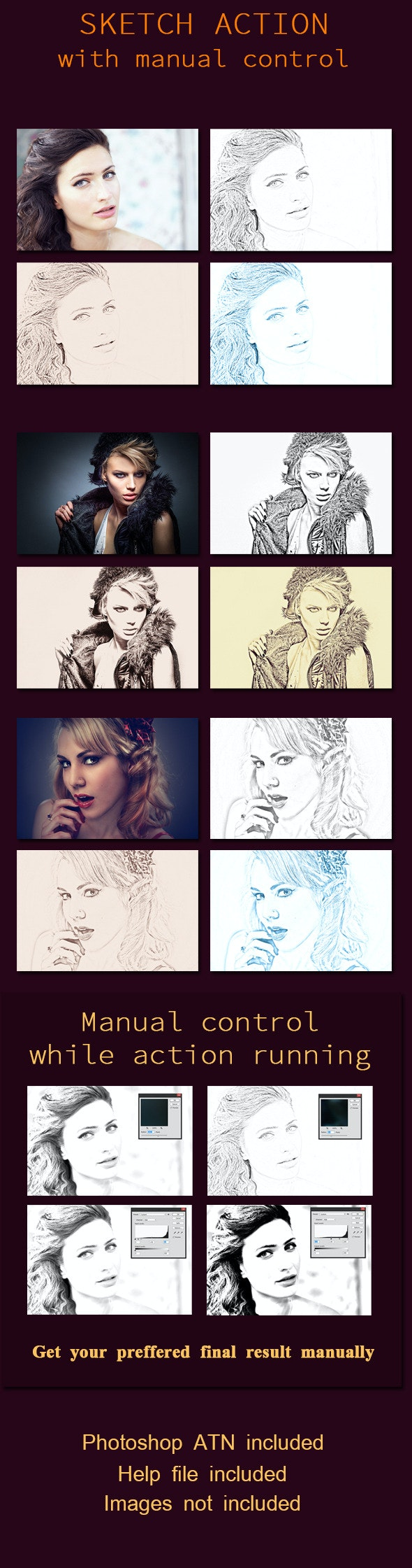 Sketch Action - Photo Effects Actions