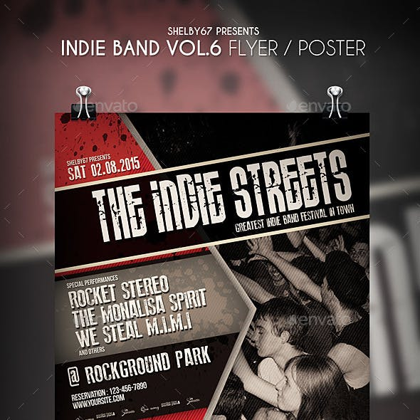 Indie Band Flyer / Poster Vol 6
