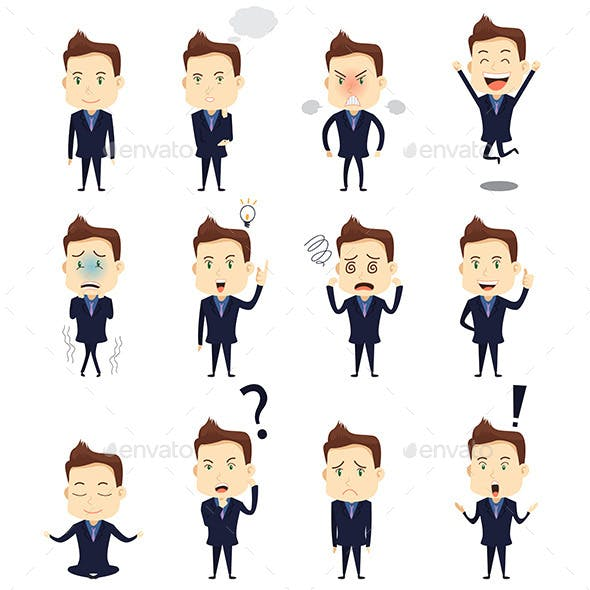 Businessman Expression Icons