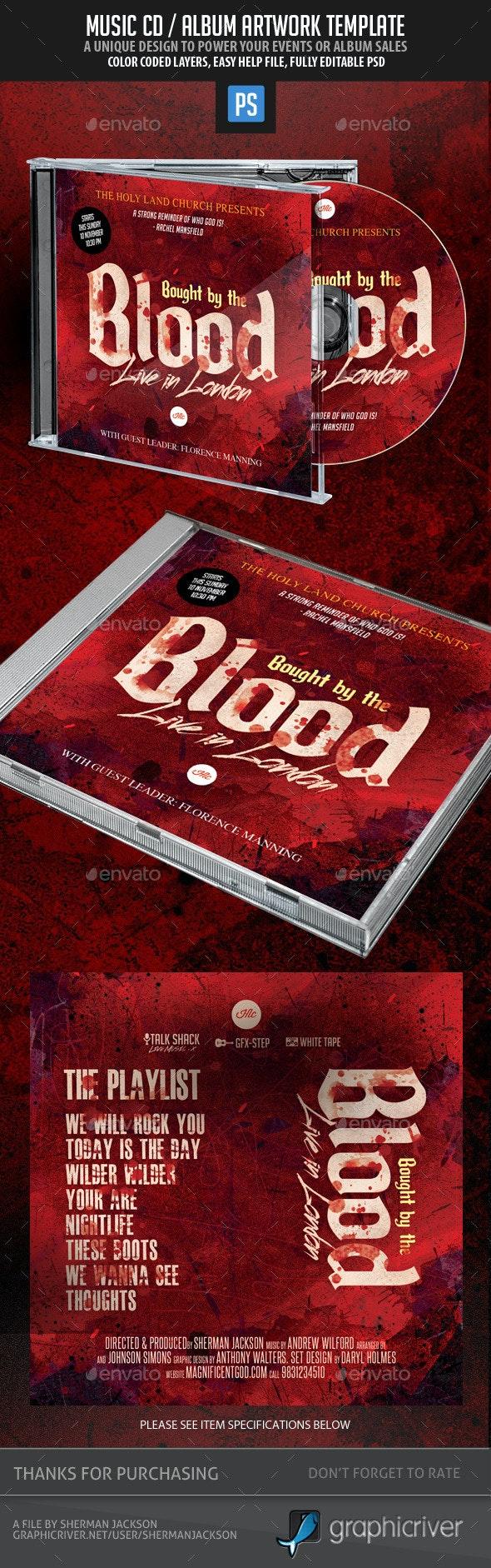 Christian Themed Music CD Album Artwork - CD & DVD Artwork Print Templates