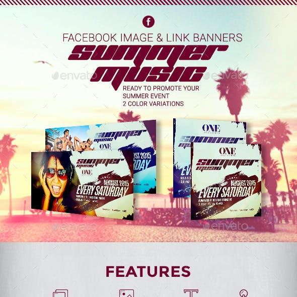 Summer Music - Facebook Banners