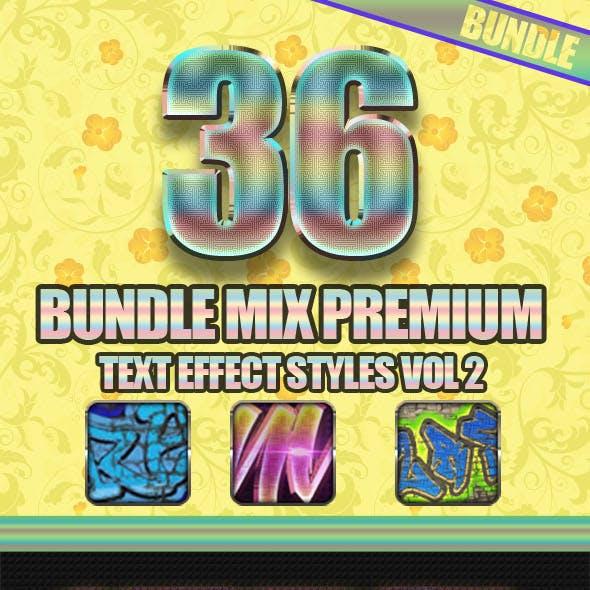 36 Bundle Mix Premium Text Effect Styles Vol 2