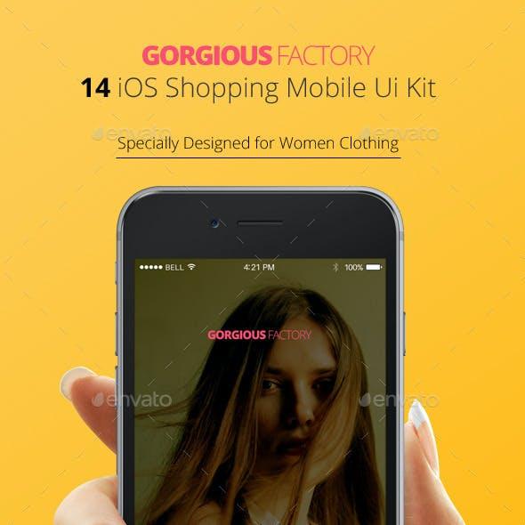 Gorgious Factory - Shopping iOS UI Kit