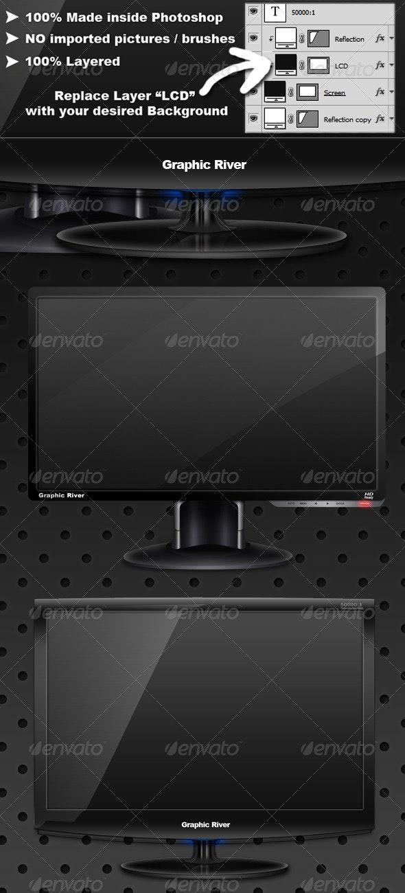 2 LCD Monitors - Monitors Displays