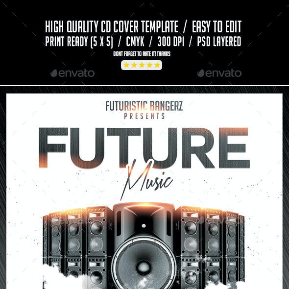 Future Music Sound System | Mixtape CD PSD Cover Template
