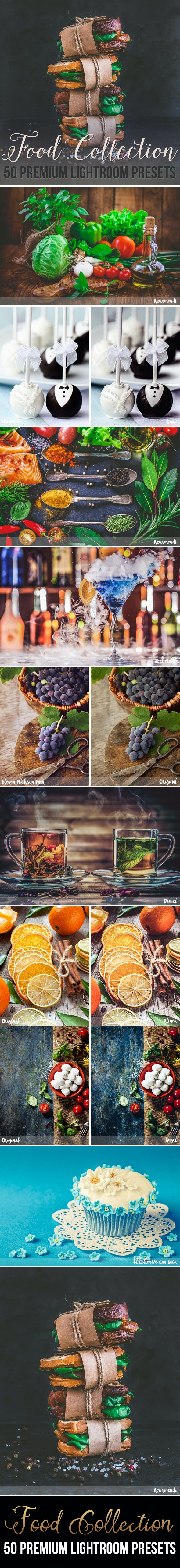 50 Premium Food Photography Lightroom Presets - Lightroom Presets Add-ons