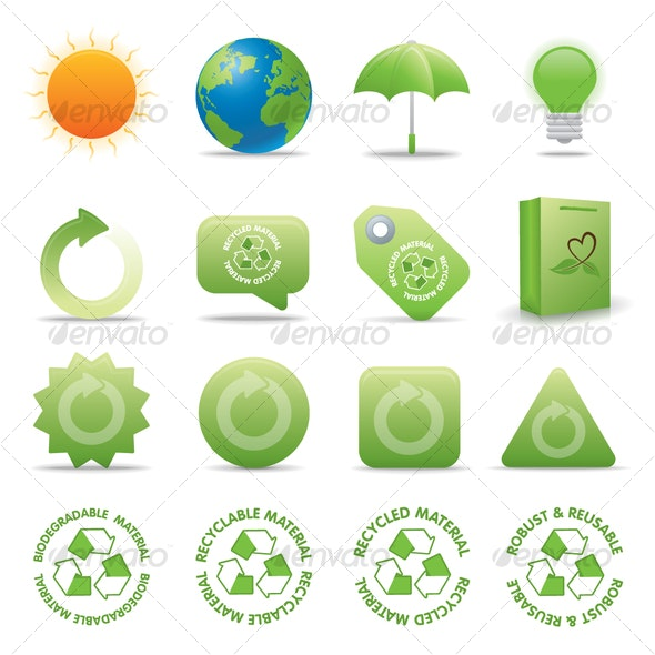 ECO VECTOR ICONS - Web Icons