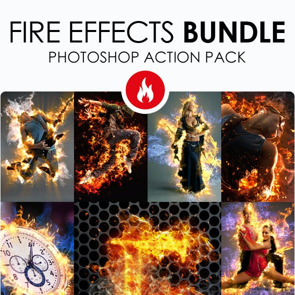 Fire Effects Bundle - Photoshop Actions