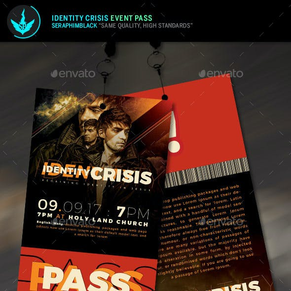 Identity Crisis Event Pass Template