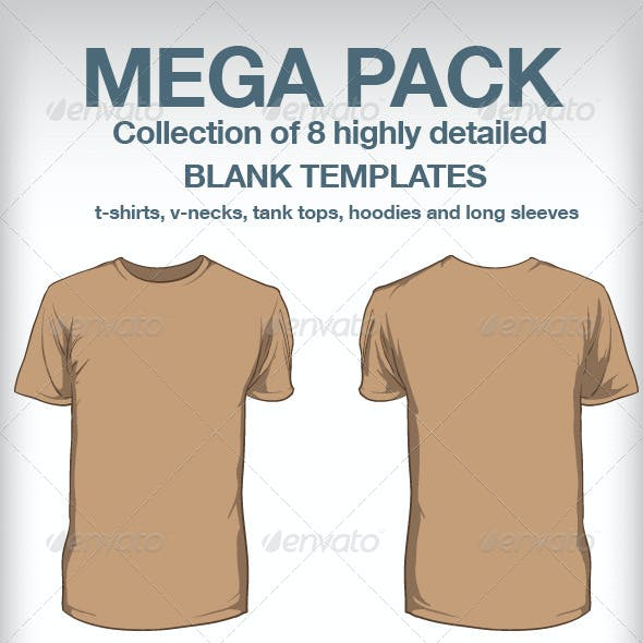 T-shirt templates - Mega Pack