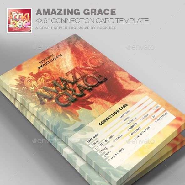 Grace Connection Card Template