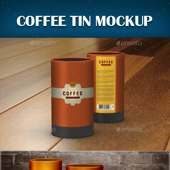 Coffee Tin Mockup