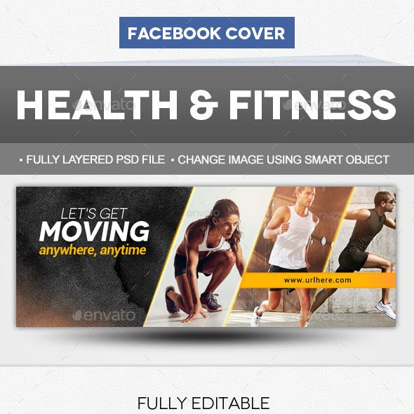Health & Fitness Facebook Cover Template