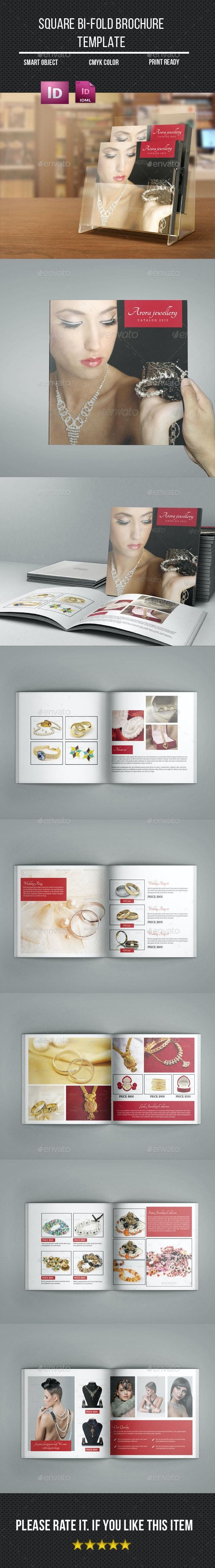Square Bi- Fold Jewelry Brochure - Catalogs Brochures