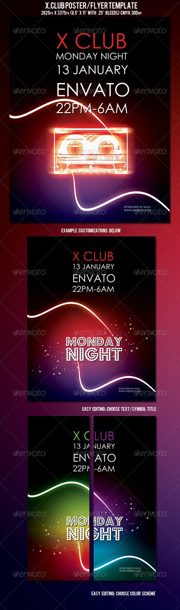 X.Club Poster/Flyer Template - Clubs & Parties Events