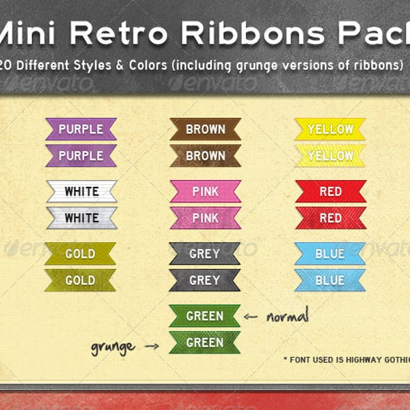 Mini Retro Web Ribbons
