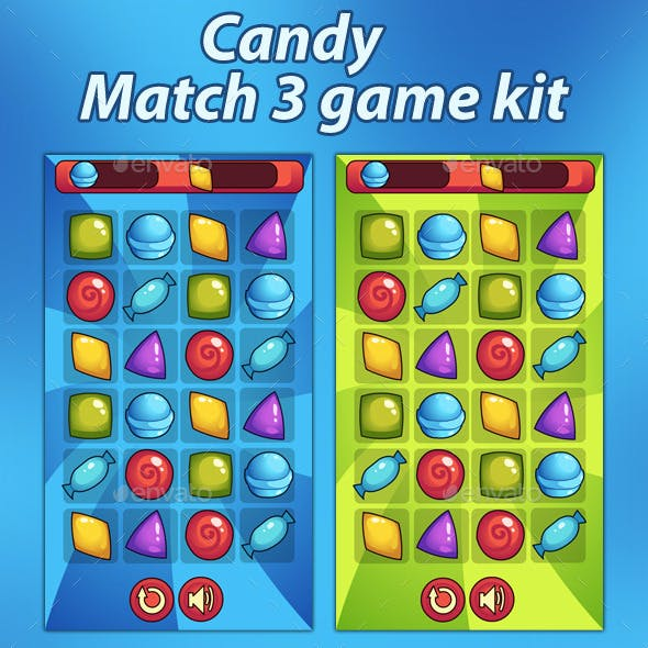 Candy Match 3 Puzzle Game Kit