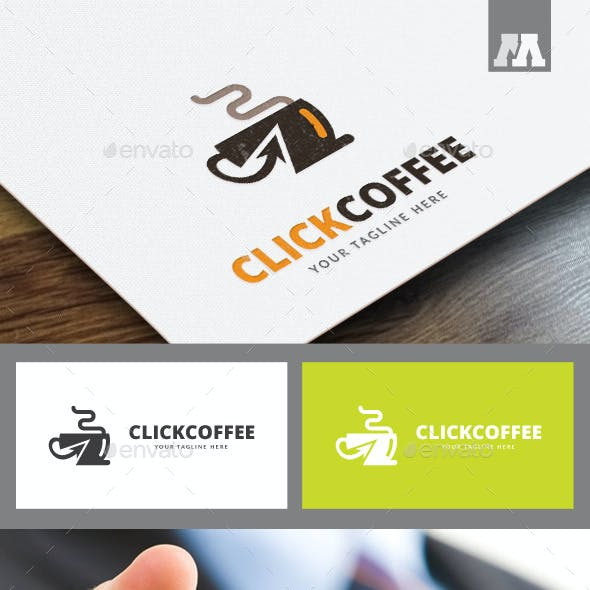Click Coffee Logo Template