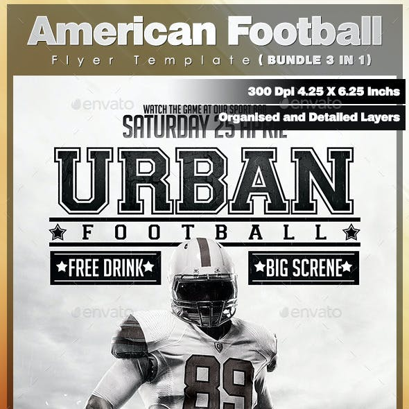 American Football Flyer Template - Bundle 3 in 1
