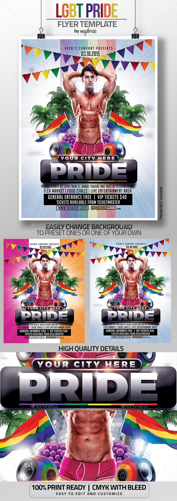 LGBT Pride Flyer / Poster Template - Events Flyers