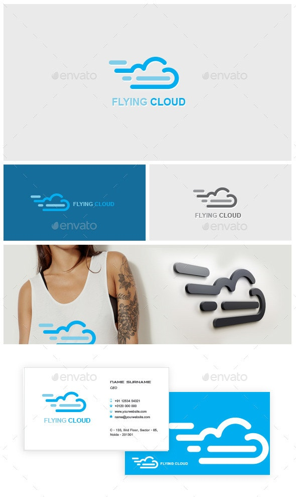 Flying Cloud Logo - Symbols Logo Templates