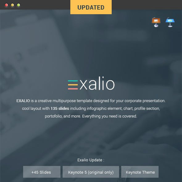 Exalio - Keynote Template
