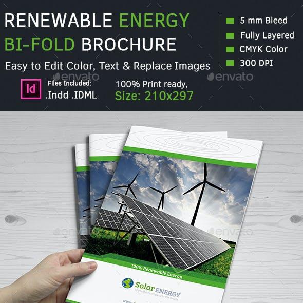 Renewable Energy Bi-Fold  Brochures