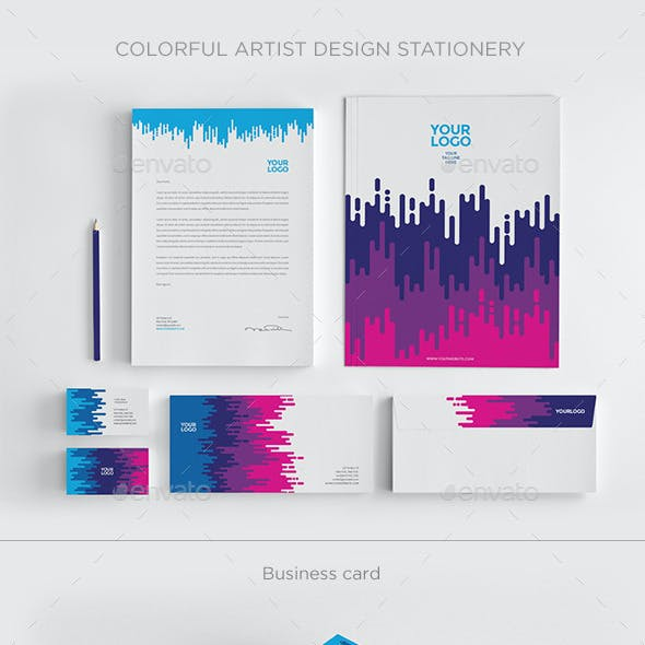 Colorful Artist Design Stationery