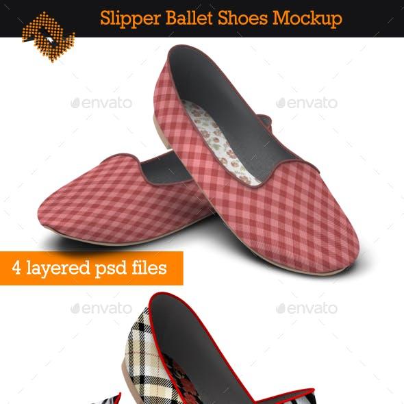 Slipper Ballet Shoes / Fabric Pattern Mockup
