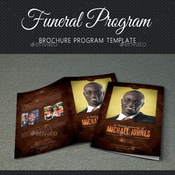 Funeral Program Brochure Template V01