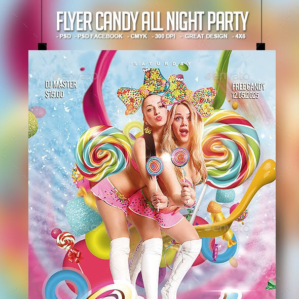 Flyer Candy All Night Party