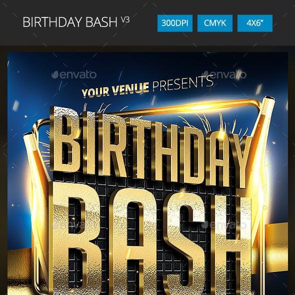 Birthday Bash Flyer v3