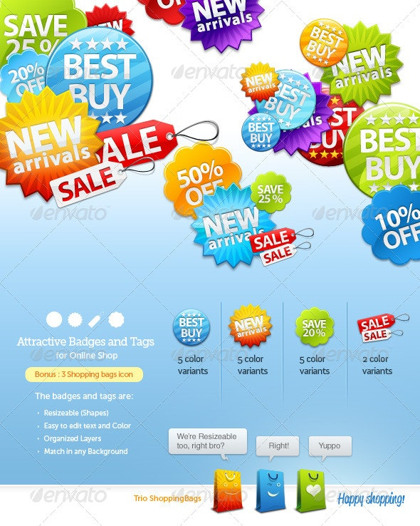 Badges and Sale Tags for Online Shop - Miscellaneous Web Elements