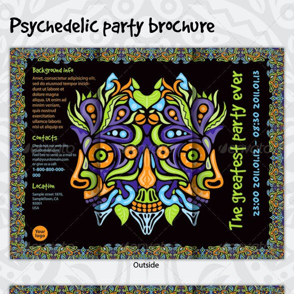 Psychedelic Party Brochure