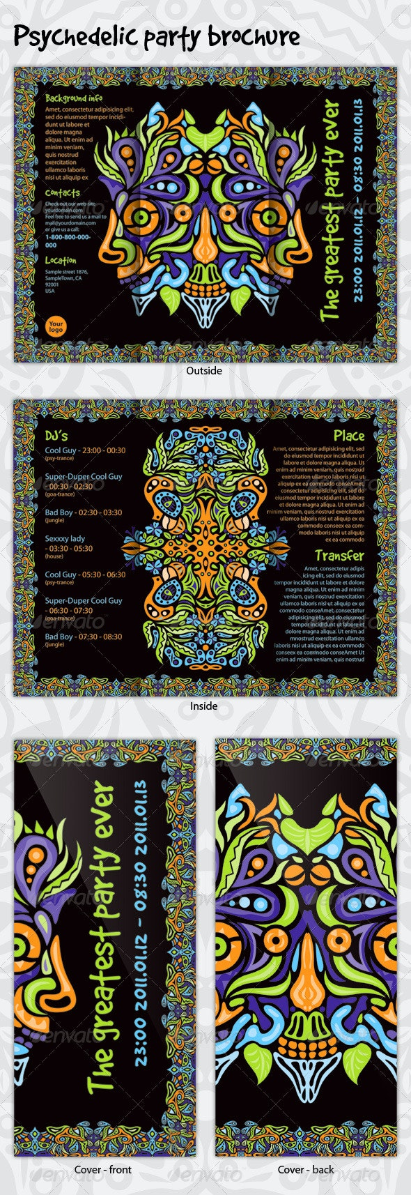 Psychedelic Party Brochure - Corporate Brochures