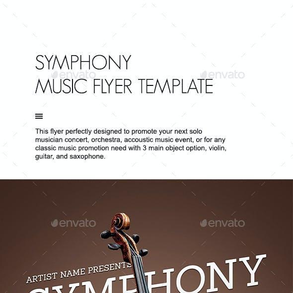 Symphony Music Flyer Template