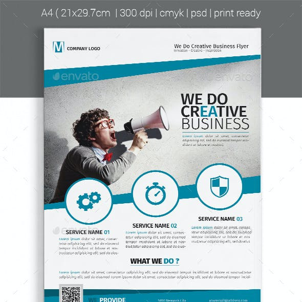 A4 Corporate Business Flyer Template Vol 08