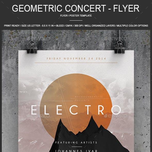 Geometric Concert - Flyer / Poster