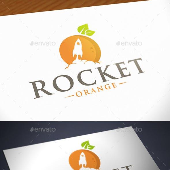 Orange Rocket Logo Template