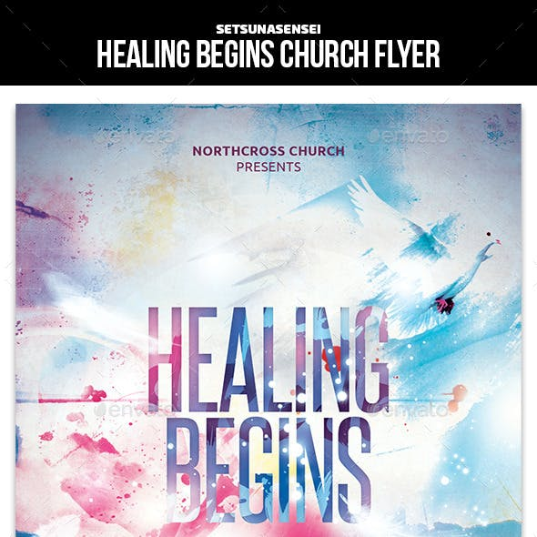 Healing Begins Church Flyer